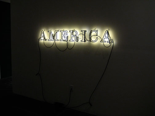 Glenn Ligon's installation at the Wattis Institute's The Wizard of Oz exhibition