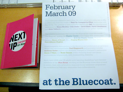 A Bluecoat catalog (left) and calendar (right).