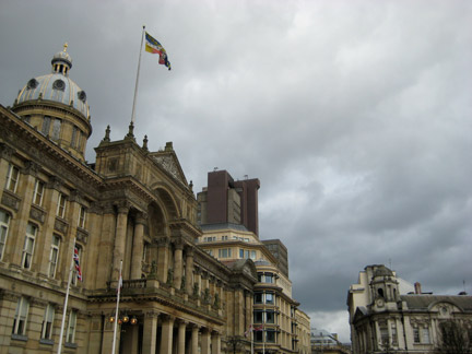 Grey clouds in Birmingham, UK