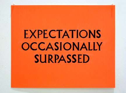 "Fig. 4. Christine Wong Yap, ""Expectations Occasionally Surpassed,"" Ink on poster board, 25 x 20 inches*"