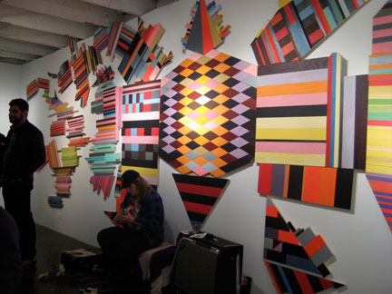 Installation by Sam Lopes, Joy Fritz and Friends at Blankspace Gallery.