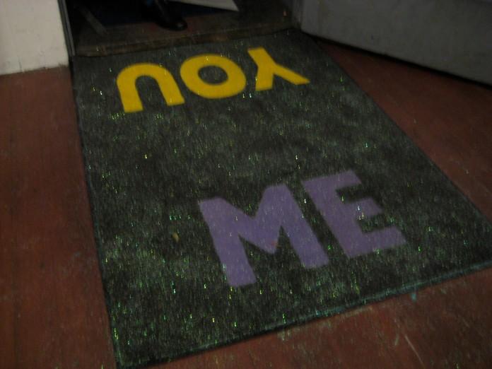 Amanda Curreri, Leveller (enamel on floor mat), 2009