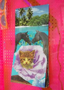 Cute ___ Calendar, 2010, collage of found calendars, 12 x 12 x 0.5 inches / 30 x 30 x 1.2 cm