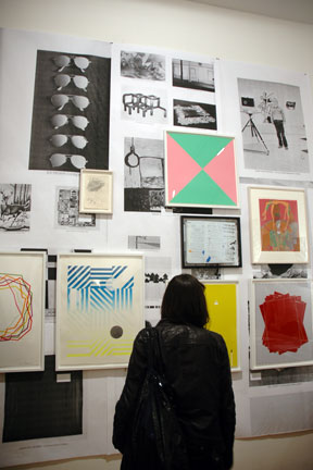 NYArtBookFair exhibition of prints on photocopies