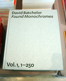 David Batchelor, Found Monochromes