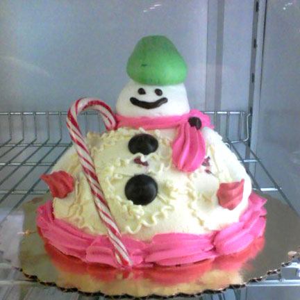 Snowman Cake at Artopolis Bakery