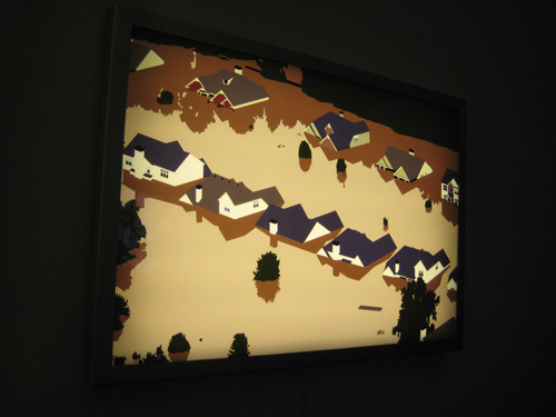 A lightbox by Kota Ezawa at Murray Guy, Armory