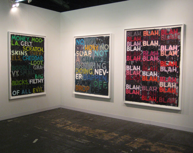 Mel Bochner, Two Palms, New York, Armory.