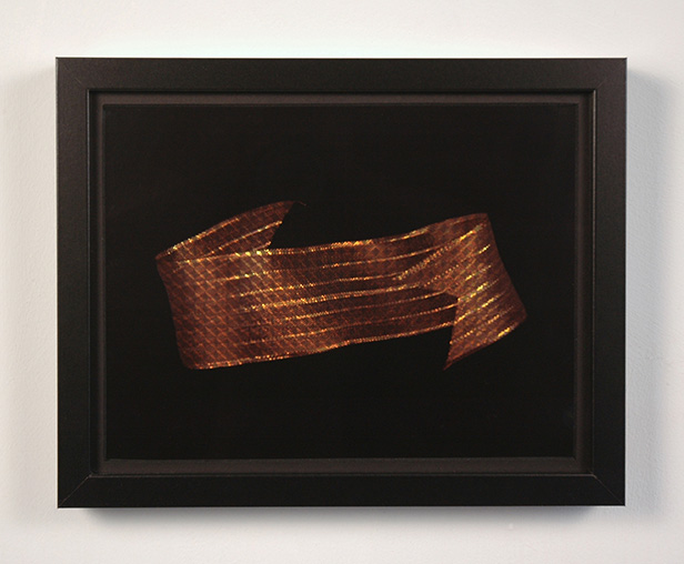 Christine Wong Yap, Banner #6, 2011, photograph printed in color laser on acetate, holographic gift bag, 12 x 9 in.