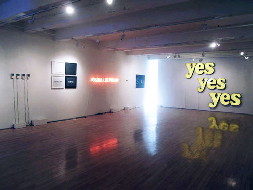 Works by Samson Young, Burt Richie, Tim Etchells, Young, Jack Pierson, and Jeremy Burt.