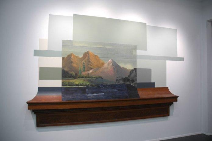 Casteneda/Reiman's landscape illusions and installations at Baer/Ridgeway, San Francisco.