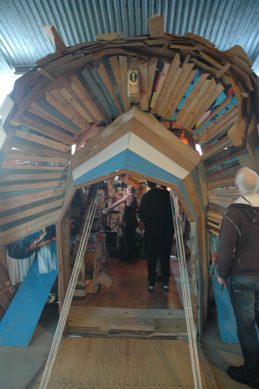 Front of Inka Hoots' plane/shanty. Funny after building a shanty for Art in General just a week an a half ago.