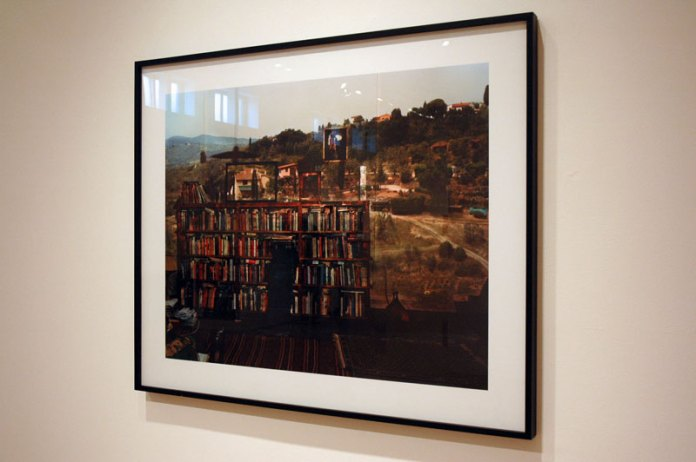 I liked a few different works in the group show at Haines Gallery in San Francisco. I'd loved an image of a camera obscura installation by Abelardo Morell, so it was nice to see this photo, though I'd rather experience the installation still.