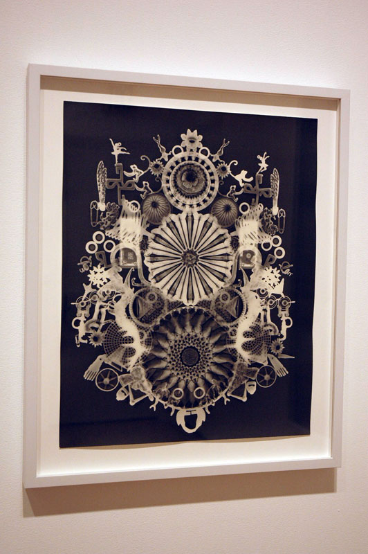 "These photograms by Wendy Small are quite nice. I overheard another visitor dismiss them as ""decorative."" Yes, they'd fit in as a cheeky Victorian element in someone's otherwise modern home, but still, the images are pretty neat."