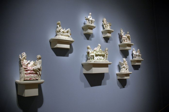 Erotic Victorian figurines by Chris Anteman, also in the Contemporary Northwest Art Awards show.