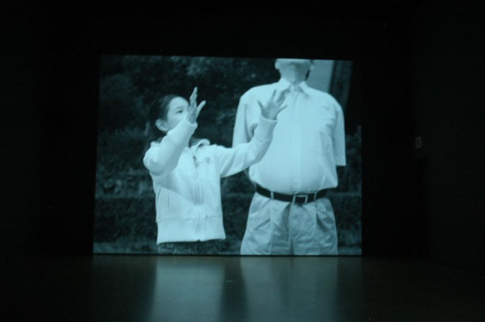 Great video by David Claerbout at SFMOMA. Comprised of multiple shots of the same scene in an Asian high-rise apartment courtyard. The number and fineness of the images transition from believable to surreally plasticine. The video is called, Sections of a Happy Moment.