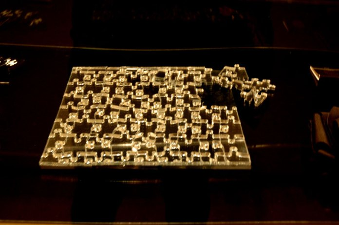 Tobias Wong's mirrored puzzle. SFMOMA.