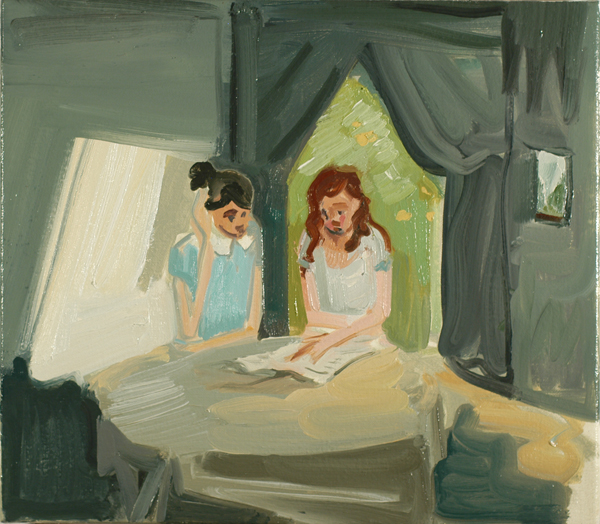 Two Girls Reading (by day), 2011