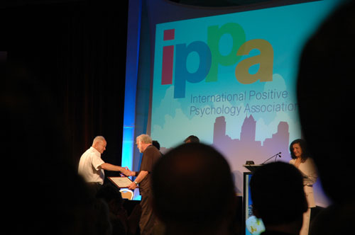 Seligman (left) and Csikszentmihalyi (right) are named IPPA Fellows.