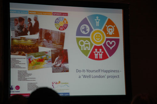 Nic Marks presented Do-It-Yourself Happiness, a Well London project.
