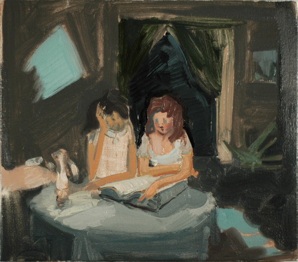 Two Girls Reading (by night), 2011