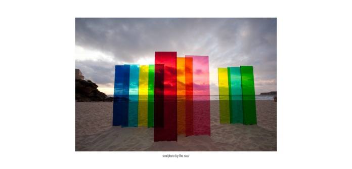 Nicolas Elias. The Geometry of Innocence, 2009. Acrylic sheets (Perspex). Sculpture by the Sea, Sydney.