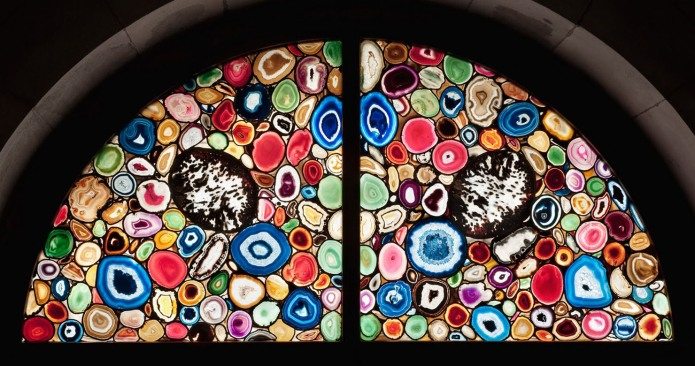 Agate window by Sigmar Polke, 2009, Grossmuenster Cathedral, Zurich