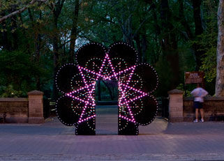 James Yamada, Our Starry Night, 2008. Photo by Seong Kwon, courtesy of the Public Art Fund.