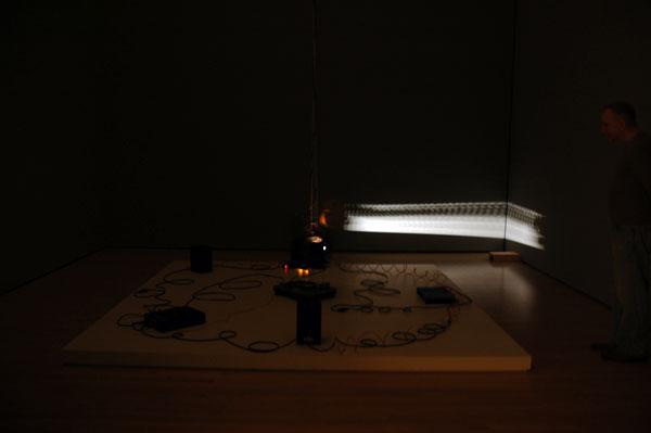 Kinetic media installation by Mario Ancalmo, SECA 2010, SFMOMA.