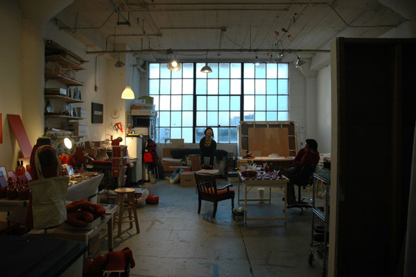Studio visit with Stephanie Syjuco.