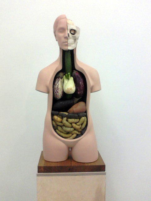 "A sculpture from Klaus Weber's show, ""if you leave me I'm not following"" at Andrew Kreps Gallery."
