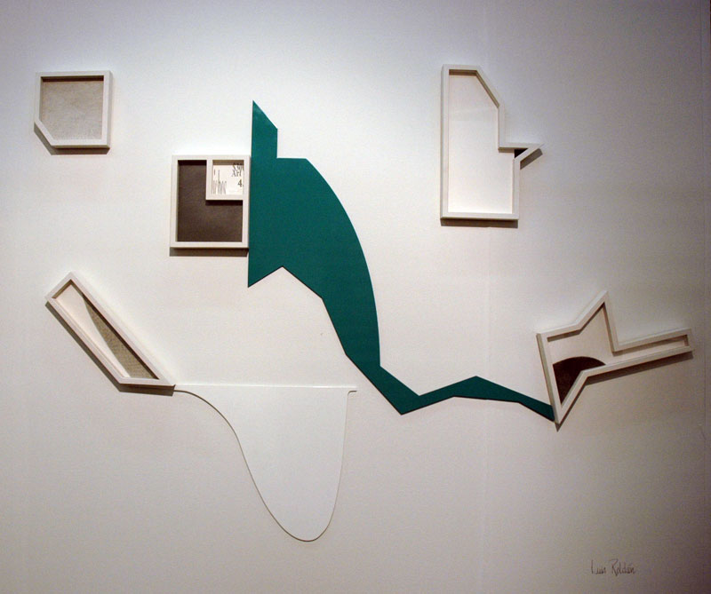 I love funny-shaped frames. Luis Roldan, Henrique Faria Fine Art.