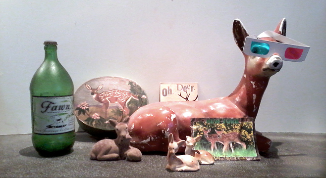 Fawn's collection of fawns. Source: Greene County Art Council.