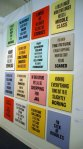 Douglass Coupland signs. Can't go wrong with text on a grid with different colors. Art Dealers Association of Canada, Toronto.
