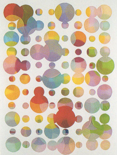 Jim Hodges, Overlaps under there, 1999, tissue paper with cut paper, 30 x 22.5 inches. Private Collection, NY. Source: Hodges, Jim, Ian Berry, Ron Platt, and Allan Schwartzman. 2003. Jim Hodges. Saratoga Springs, N.Y.: Frances Young Tang Teaching Museum and Art Gallery at Skidmore College.