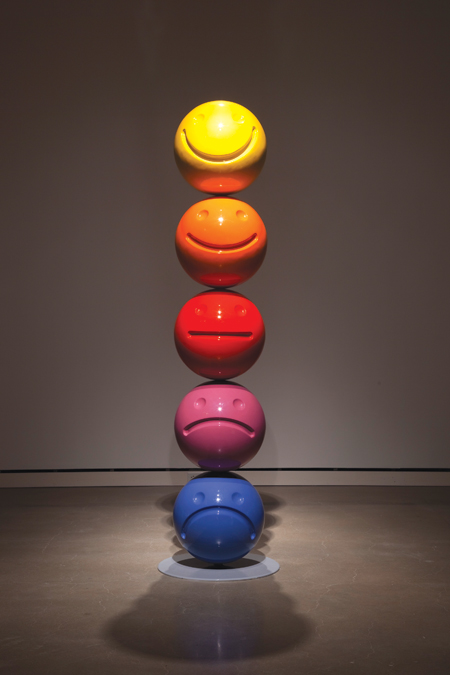 "Tony Tasset, Mood Sculpture, 2011, Fiberglass and paint, 90"" x 18"" diameter, Photos: courtesy Kavi Gupta Gallery, Chicago // Source: ArtLtdMag.com"