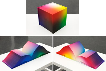 Tauba Auerbach, RGB Colorspace Atlas. (2011). // Source: Rhizome.org.