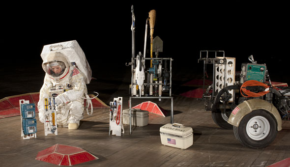 Tom Sach's Space Program: Mars. Source: Park Avenue Armory newsletter.