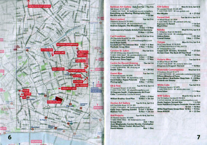 A spread from my well-travleed copy of Art Update: London.