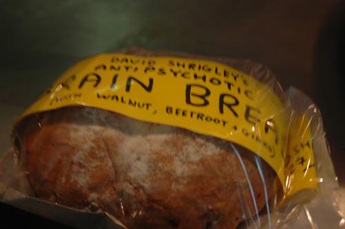 David Shrigley's Anti-Psychotic Brain Bread at Bakerie, Northern Quarter, Manchester.