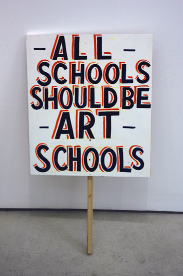 Bob and Roberta Smith, The Art Party USA Comes to the UK, detail.