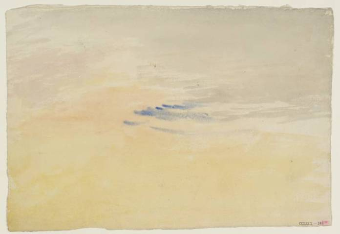 Joseph Mallord William Turner, The Yellow Sky, circa 1820-30 // Source: http://www.tate.org.uk/
