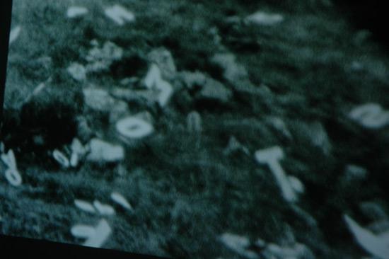 Still from Poem video documentation by Ewa Partum. Tate Modern.