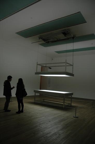 Alfredo Jaar, Lament of the Images, 2002, motorized lightboxes. Tate Modern.