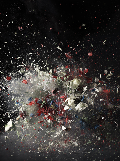 Ori Gersht, Blow Up #1, 2007, c-print mounted to acrulic 98 x 74 1/2 x 1 3/4 inches // Source: CRGgallery.com