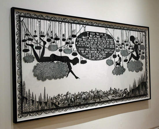 Rob Ryan, papercut, The First Cut, Manchester Art Gallery.