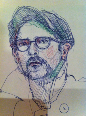 My Sketch-O-Matic drawing of Mike Chavez-Dawson.