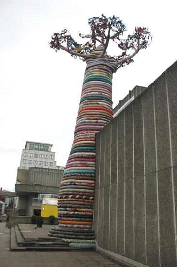 University of the Arts London's MA Textile Arts students' massive textile baobob.
