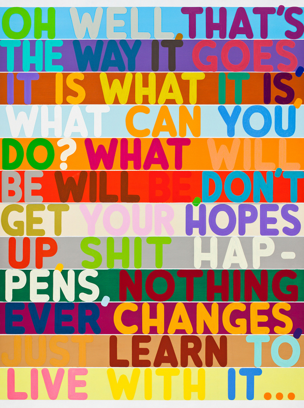 Mel Bochner, Oh Well, 2010, oil and acrylic on two canvases, 100 x 75 inches. Courtesy Peter Freeman Inc., New York © Mel Bochner 2011 // Source: http://jumpsuitsandteleporters.com/