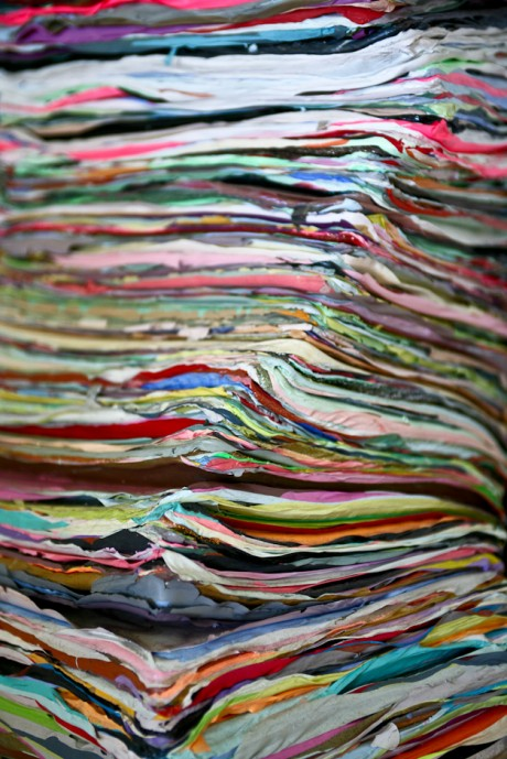 Detail, paint stack by Leah Rosenberg. Photo: Klea McKenna. // Source: InTheMake.com.